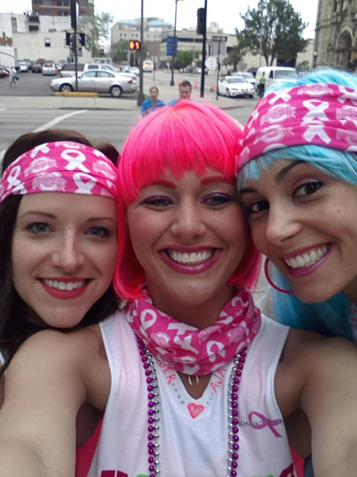 Amber Aja and Rilene at the Race for the Cure