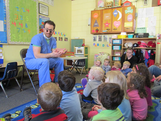 Dr. Bauer at Olentangy Church Child Care
