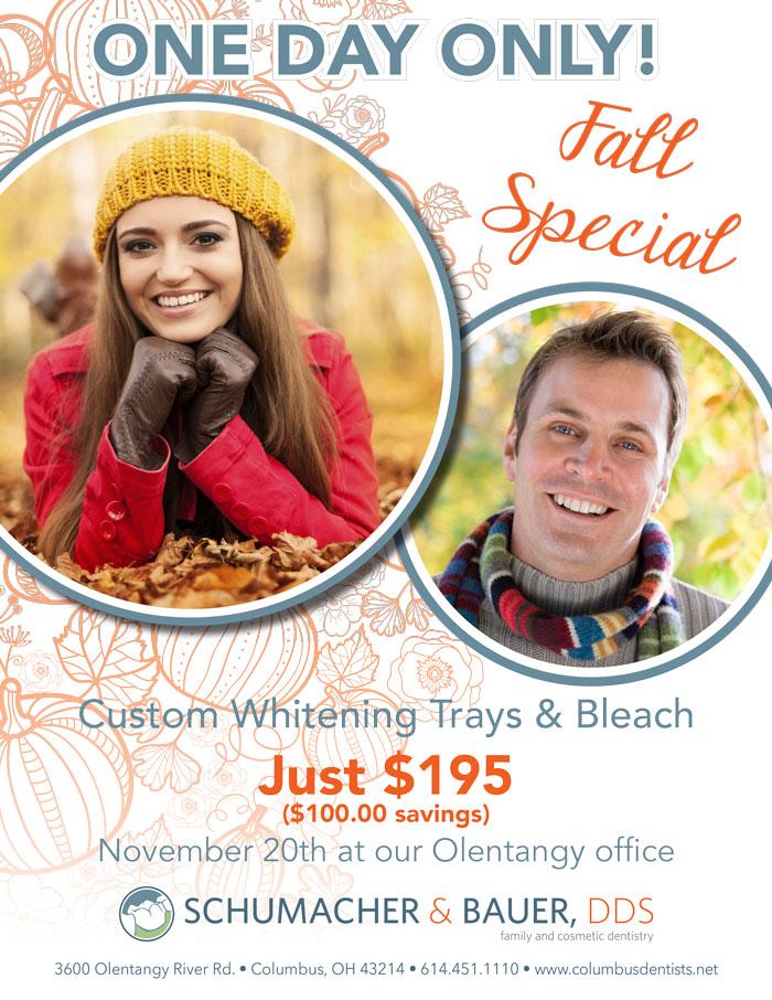 Columbus, Ohio Fall Teeth Whitening Special
