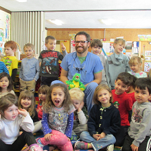 Daycare visit with Dr. Bauer