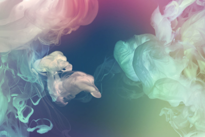 Photo of smoke from an electronic cigarette