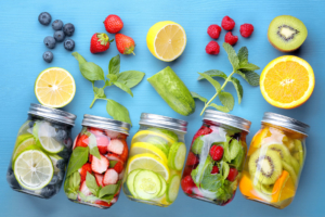 Tasty and tooth-friendly soft drink alternatives, infused waters are great substitutions for soda
