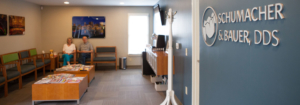 Picture of patients waiting in the Schumacher & Bauer waiting area