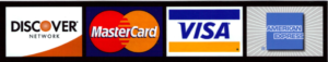 Image of credit cards accepted by Schumacher & Bauer, DDS: Discover, MasterCard, Visa and American Express