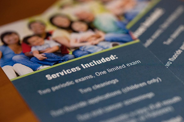 Preventative Care Package at Schumacher & Bauer, DDS, pamphlet explaining the preventative care package at Schumacher & Bauer in Columbus, Ohio