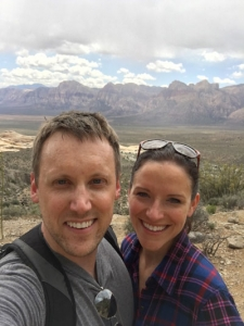 Rilene and her husband on vacation in Nevada